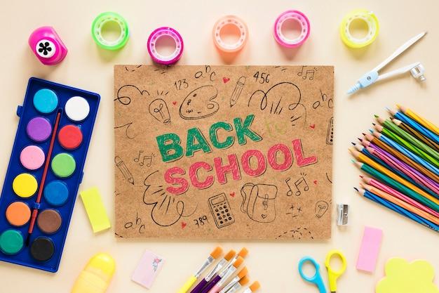 Produtos coloridos para o início da escola