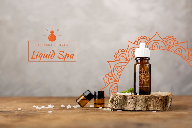 Produtos naturais oleosos para massagem spa