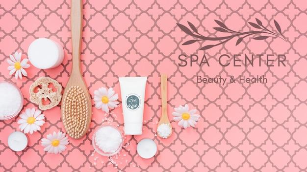 Produtos naturais para tratamento de beleza e spa