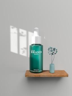 Produtos premium cosméticos hidratantes para cuidados com a pele.