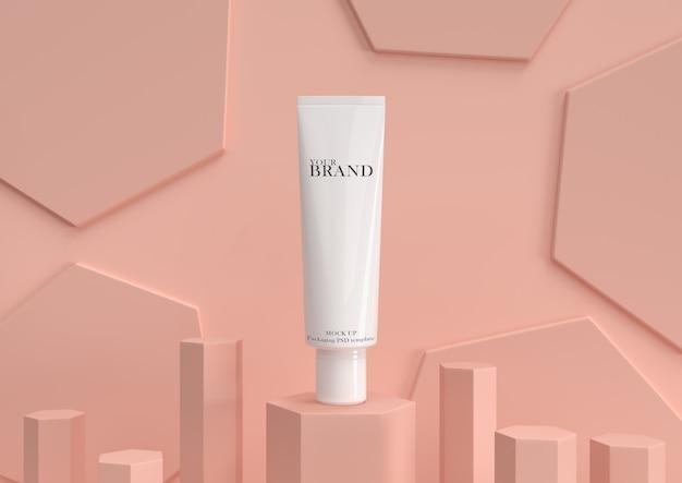 Produtos premium cosméticos hidratantes para os cuidados com a pele