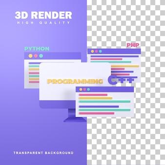 Programação de renderização 3d para desenvolvimento web.
