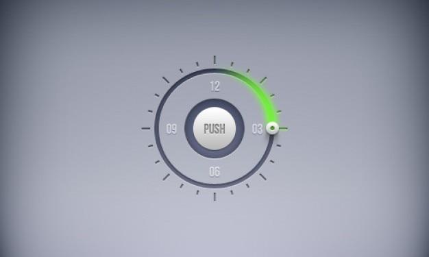 Programar botões temporizador em psd