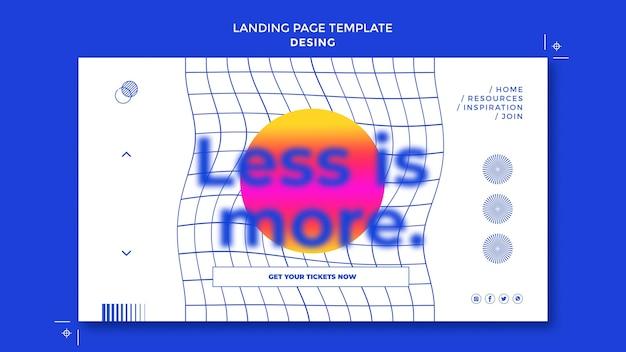 Projetar modelo de página de destino