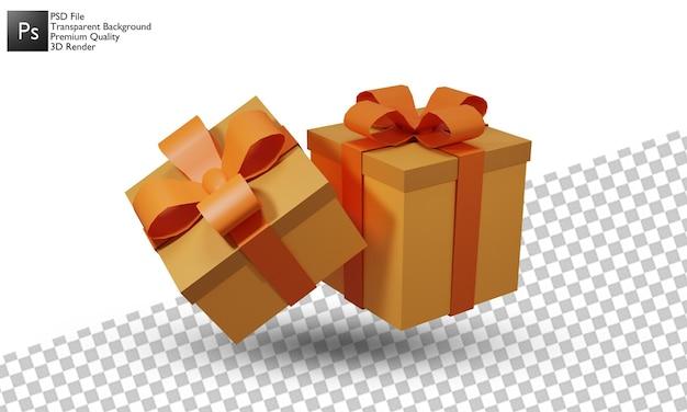 Projeto 3d de ilustração de caixa de presente