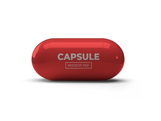 Projeto da cápsula pílula maquete isolada