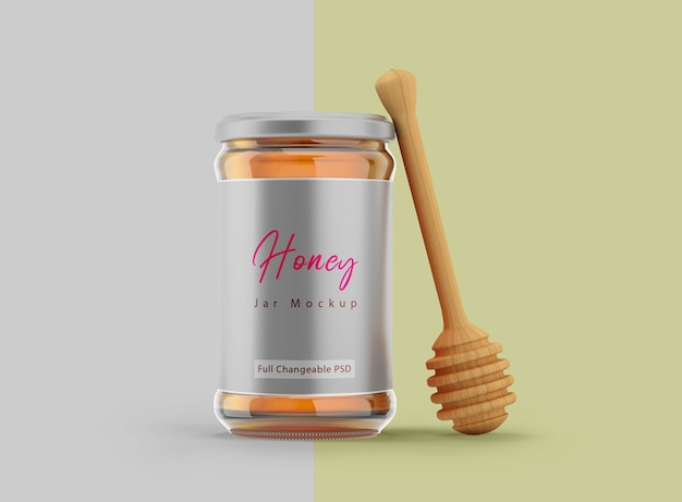Projeto da etiqueta do frasco de mel de maquete