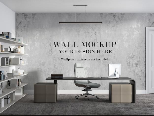 Projeto da maquete da parede da sala do diretor