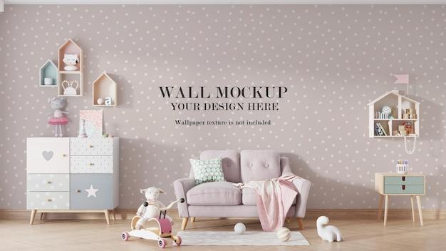 Projeto da maquete da parede do quarto infantil Psd Premium