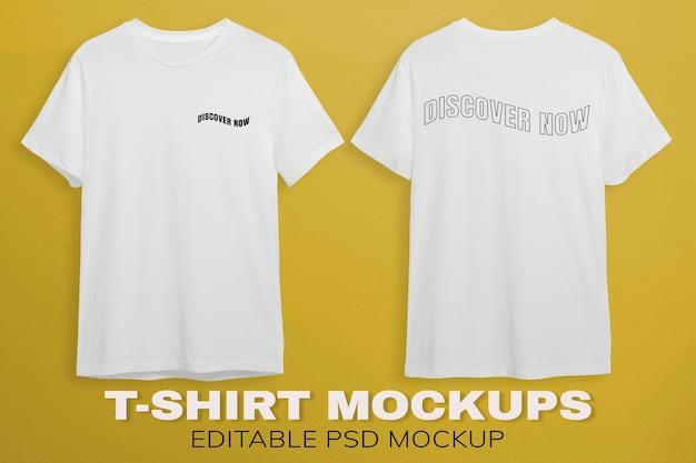 Projeto da maquete de camisetas brancas