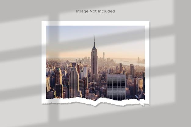 Projeto da maquete de papel rasgado da galeria de fotos
