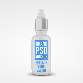 Projeto da maquete de renderização 3d do frasco conta-gotas Psd Premium