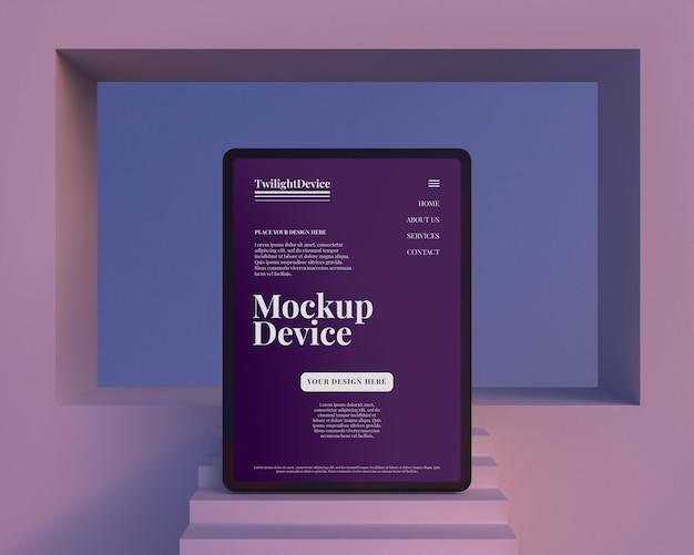 Projeto da maquete do dispositivo twilight