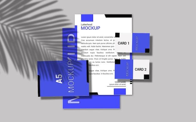 Projeto da maquete do latterhead e dos cartões