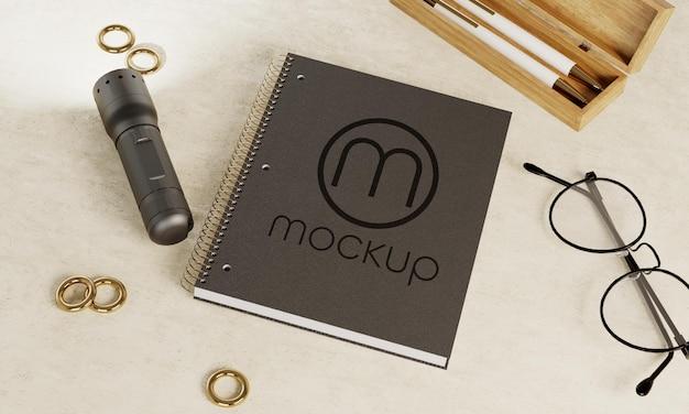 Projeto da maquete do logotipo do bloco de notas