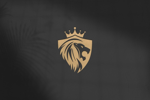 Projeto da maquete do logotipo psd isolado