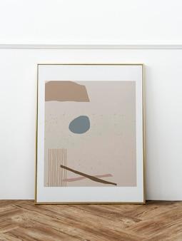 Projeto da maquete do quadro abstrato dourado
