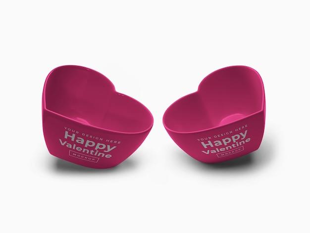 Projeto da maquete do recipiente do coração do amor dos namorados