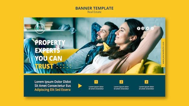 Projeto de banner conceito imobiliário