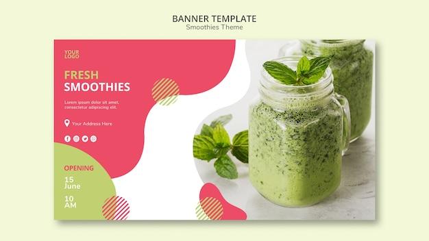 Projeto de banner de tema de smoothies