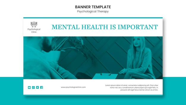 Projeto de banner de terapia psicológica