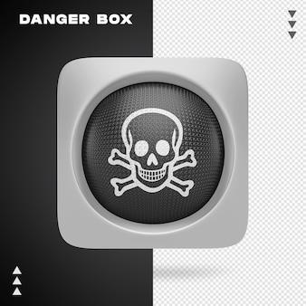 Projeto de caixa de perigo em renderização 3d