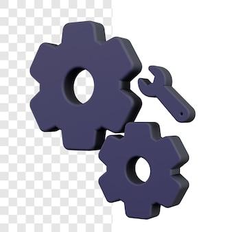 Projeto de conceito de opções de configuração 3d