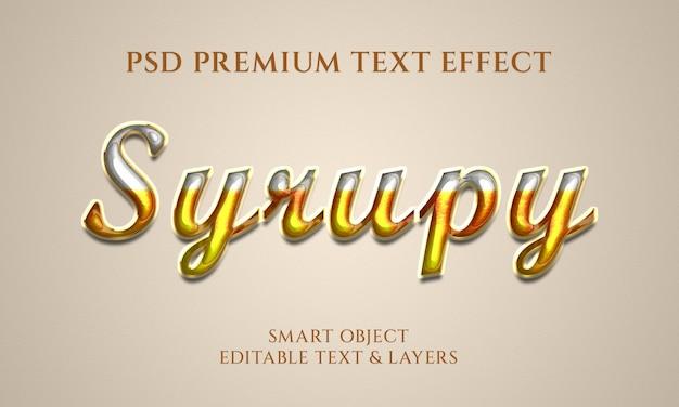 Projeto de efeito de texto em balão xarope