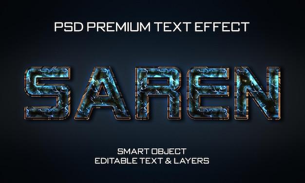 Projeto de efeito de texto saren scifi