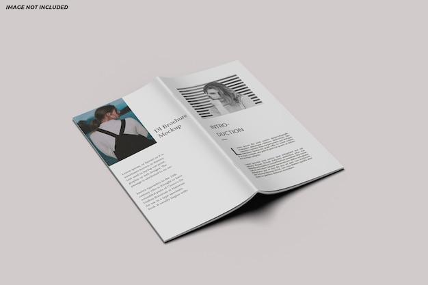 Projeto de maquete bifold do folheto dl