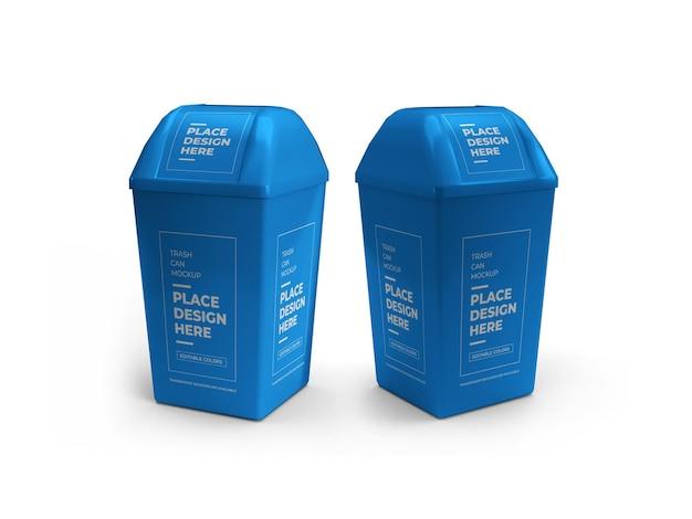 Projeto de maquete da lata de lixo isolado