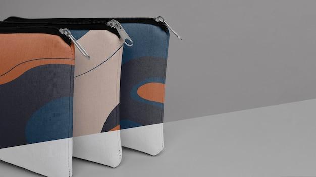 Projeto de maquete de bolsa de lona plana