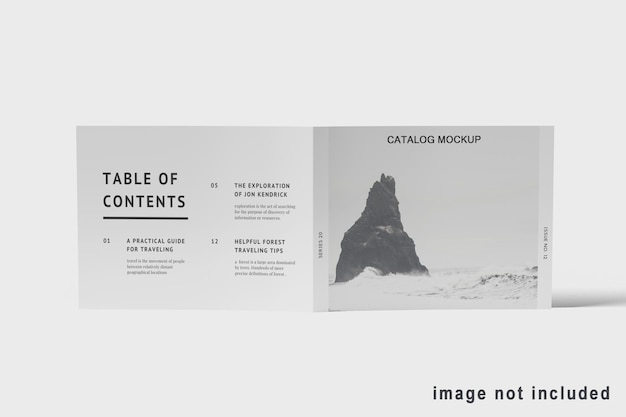 Projeto de maquete de brochura com vista frontal