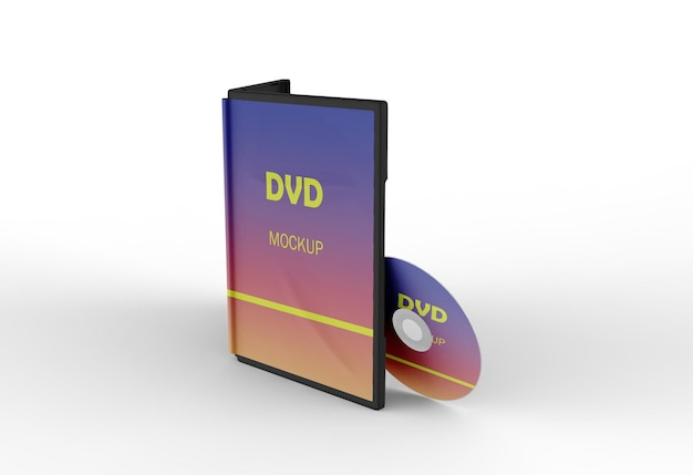 Projeto de maquete de caixa de dvd 3d