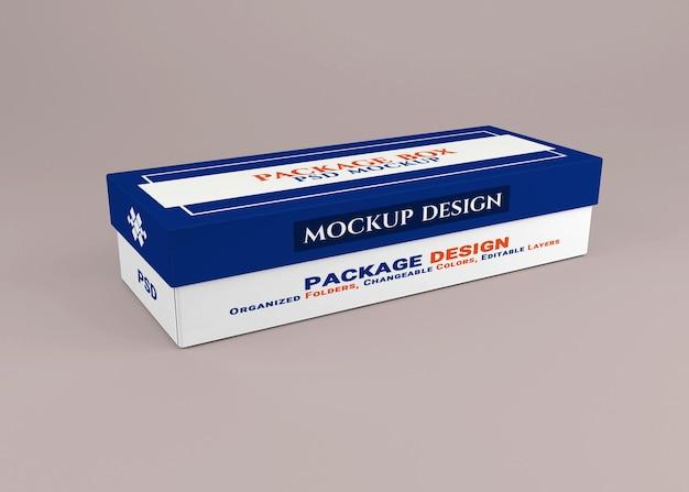 Projeto de maquete de caixa de embalagem isolado