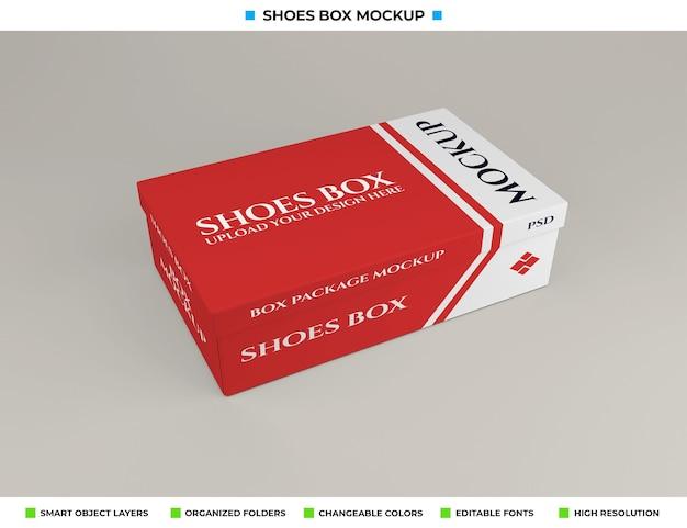 Projeto de maquete de caixa de sapatos de papelão realista