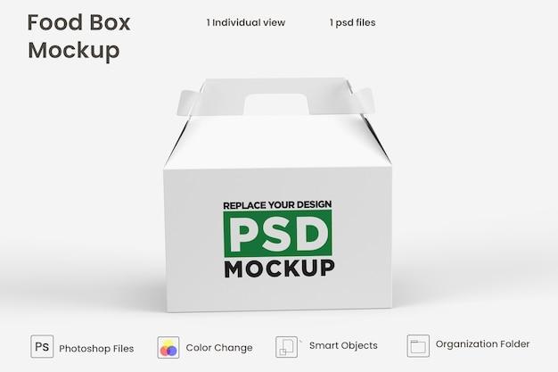 Projeto de maquete de caixa marrom de entrega de comida