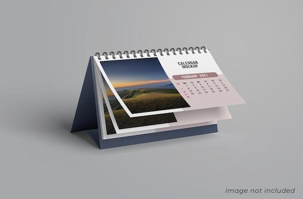 Projeto de maquete de calendário de mesa isolado