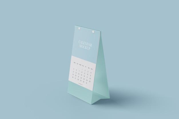 Projeto de maquete de calendário de mesa vertical