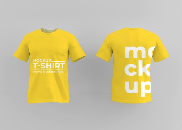 Projeto de maquete de camiseta realista para o conceito de moda