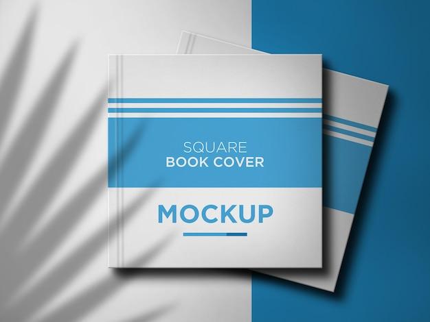 Projeto de maquete de capa de livro quadrada