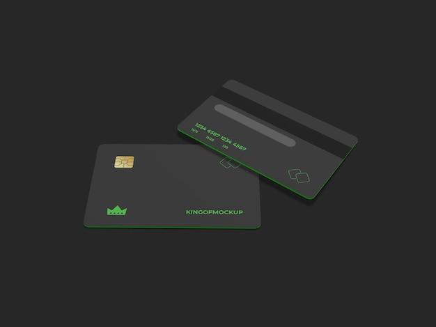 Projeto de maquete de cartão de crédito em renderização 3d