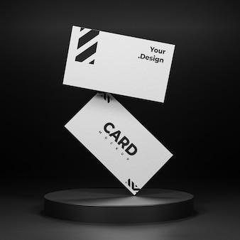 Projeto de maquete de cartão de visita branco isolado