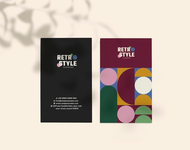 Projeto de maquete de cartão de visita com sombras