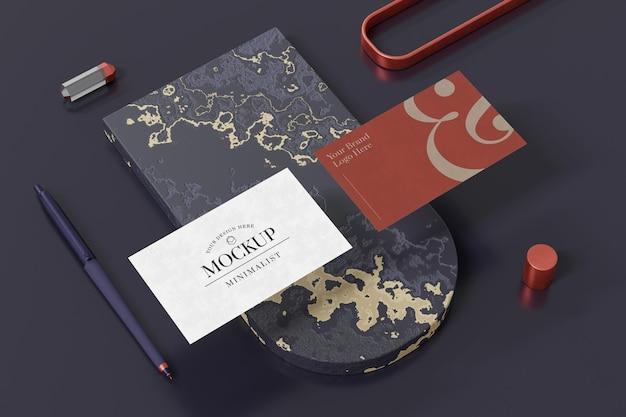 Projeto de maquete de cartão de visita em renderização 3d