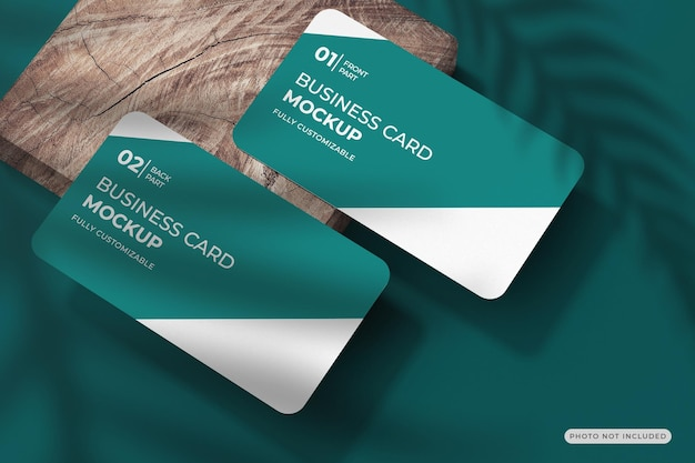 Projeto de maquete de cartão de visita redondo em renderização 3d