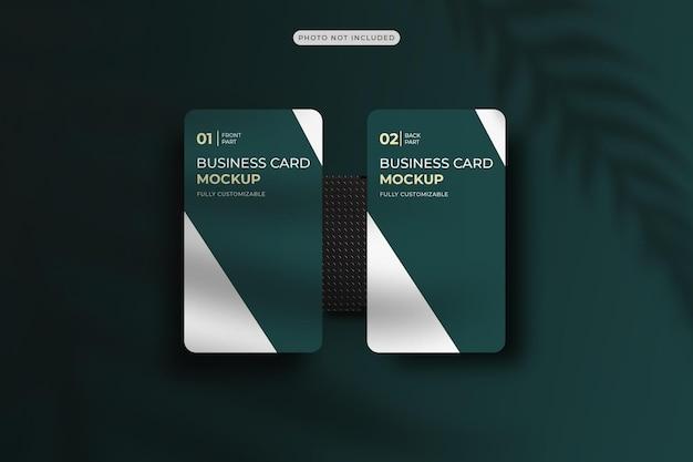 Projeto de maquete de cartão de visita vertical em renderização 3d