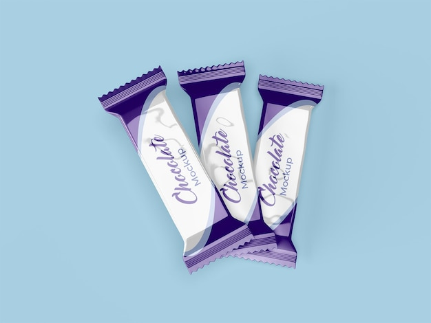 Projeto de maquete de embalagem de chocolate isolado Psd Premium