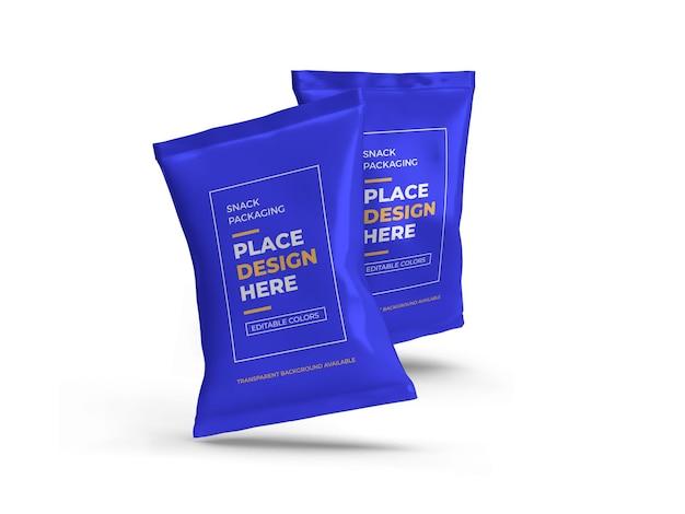 Projeto de maquete de embalagem de lanche isolado