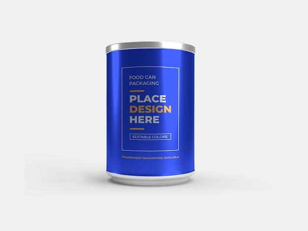 Projeto de maquete de embalagem de latas de alimentos isolado